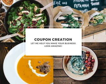 Custom Coupon Creation For Small businesses and Direct Sales or MLMs. Graphic Design, Small business Design Help, Marketing Materials Help