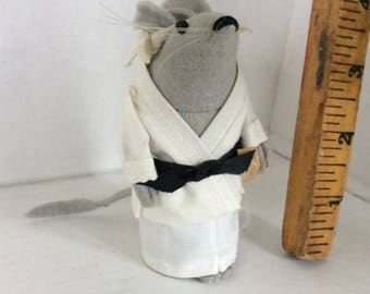 Karate mouse. Felt mouse