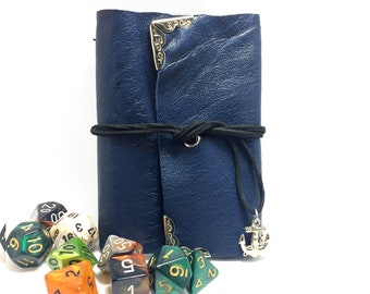 Blue Leather Spell Book- Dungeons and Dragons