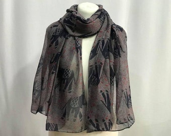 Elephant Scarf and The Peaceful Warrior Print