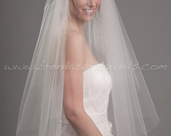 Bridal Veil, Double Layer Wedding Veil - Morgan