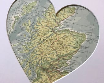 Nationality map etsy scotland heart map art gift country heart map map heart custom map country gumiabroncs Gallery