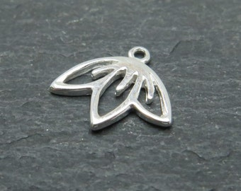 Sterling Silver Cherry Blossom Charm 10mm