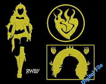 Yang Xiao Long Collection RWBY Machine Embroidery