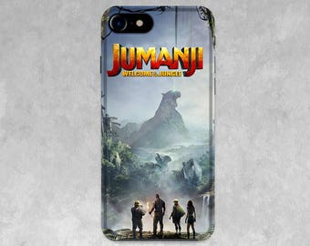 Jumanji movie case for iPhone X, 8/8 Plus, 7/7 Plus, SE, 6s/6, 5/5S/5C, 4/4S, Welcome to jungle cover phone case Valentine's gifts