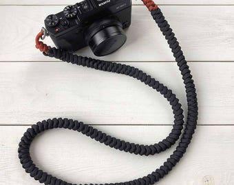 Paracord Camera Strap, Shoulder Camera Strap, DSLR Camera Strap, DSLM Camera Strap