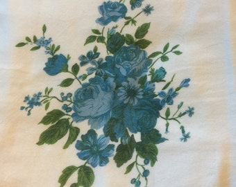100 % Cotton Flour Sack Kitchen Towel with mixed blue flowers| Gifts under 10 dollars