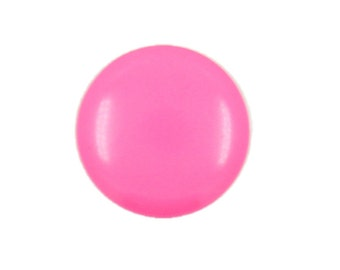 Pink Metal Buttons - Hot Pink Small Round Metal Shank Buttons - 10mm - 3/8 inch - 10 pcs
