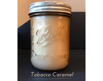 Tobacco Caramel Soy-Blend Candle