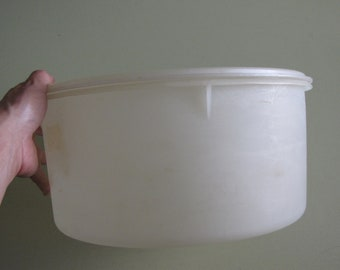 Vintage Tupperware - Large Sheer Clear Container 256-4
