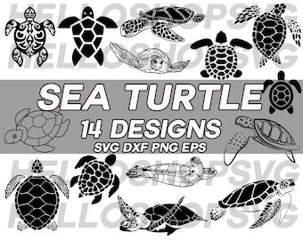 turtle svg, sea turtle svg, tortoise svg, reptile svg, marine life svg, sea animal, clipart, decal, stencil, cut file, silhouette