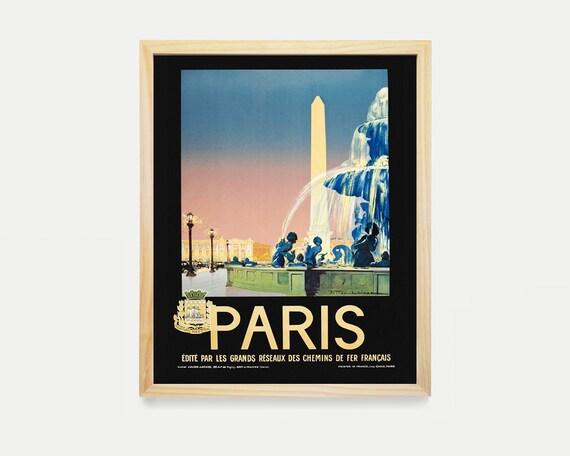 Paris Wall Art - Paris Travel Poster - Paris Poster - Airline Poster - Paris Decor - France Poster - Vintage Paris - Home Renovation - Art