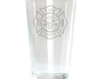 Pub Glass - 16oz - 6188 Fire Dept