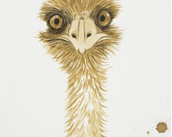 Emu -  Coffee Art - After Coffee
