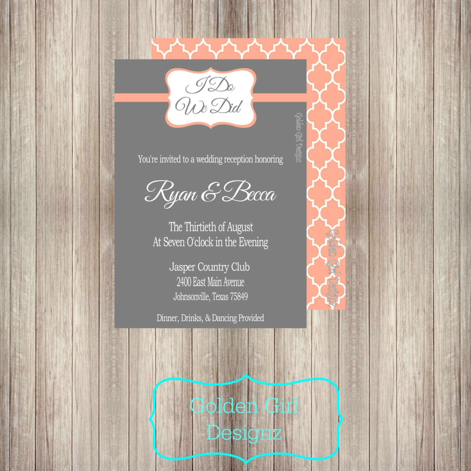 Diy two sided printable vintage wedding reception i do zoom stopboris Choice Image