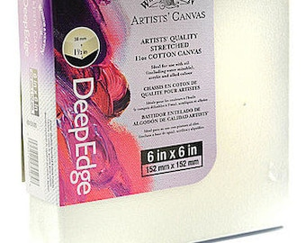 Winsor & Newton Artists' Deep Edge Canvas (6 in X 6 In) Pack of 5