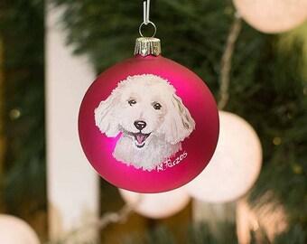 Dog (Poodle) Christmas ball