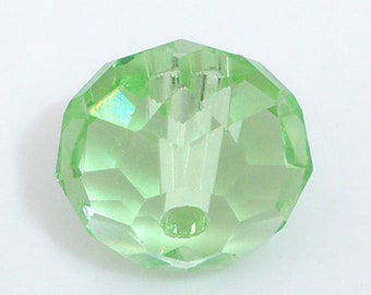 lot 10 diemetre green 10 mm faceted glass Crystal beads