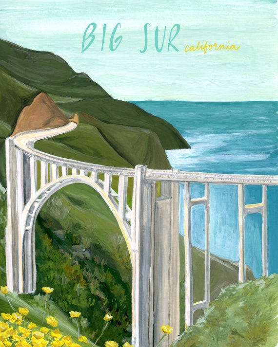 Big Sur, California Travel Poster