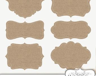 Clip Art Burlap Frames Labels tags Digital Frames Digital burlap clipart linen frame Digital Border Commercial Use