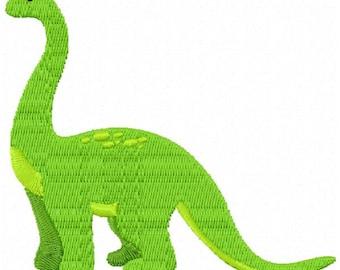 Brontosaurus Dinosaur Machine Embroidery Design - Instant Download