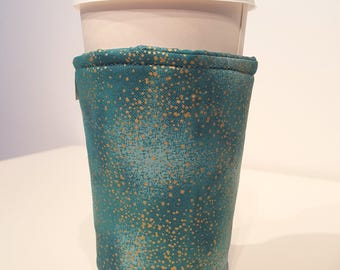 Teal and Gold Iridescent Cozy