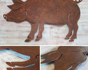 BBQ Rustic Pig Wall Decor