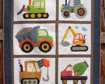 Boy Construction Bedding, Custom Boy Crib, Toddler Construction Bedding,  Digger, Dump Truck, Tow Truck, Cement Mixer, Construction Nursery