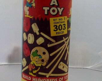 vintage Pixie build a toy 1951