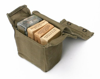 Aviator Camouflaged First Aid Kit 1960s Vietnam Era Vintage Military Survival Gear