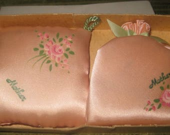 Vintage Mother's Day Sachets in Box, Hand Painted