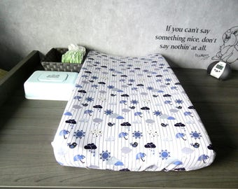 Changing Pad Cover, weather, Outdoor Changing Pad Cover, Changing Pad Cover for boy, Changing Pad Slip Cover, Nursery Bedding