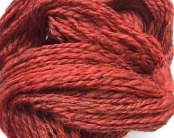 Hand Spun Wool Blend - Auburn Lights