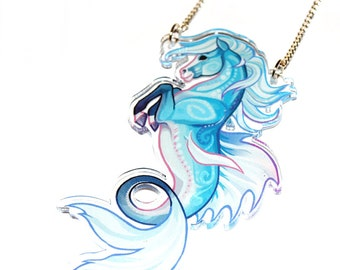 Hippocampus horse acrylic Necklace