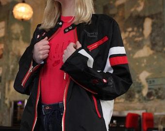 Vintage Diesel Y2K Black Embroidery Jacket