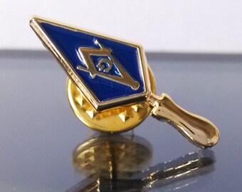 Masonic Mason Trowel Lapel Pin