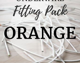 Orange Underwire Fitting Pack! Three Pair of Underwire to Find your Perfect Fit!