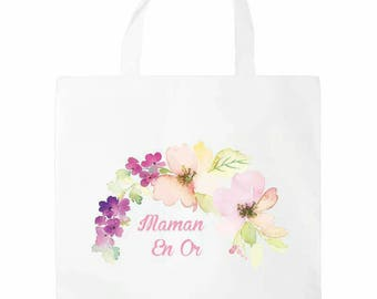 Tote bag * MOM gold *.