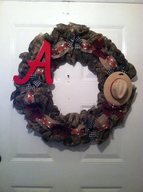 Camoflauge Alabama Burlap Wreath, Camo Bama Wreath, Camo Burlap Wreath, Camo Bama Burlap Wreath, Bama Wreath,Bama Camo Wreath,Camo Wreath