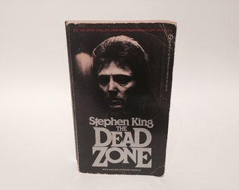 Vintage Horror Book The Dead Zone by Stephen King 1980 Paperback Movie Tie-In Edition