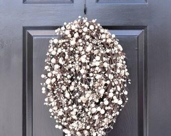 SPRING WREATH SALE The Egg, Easter Egg Wreath- Easter Decor- Easter Decoration- Spring Wreath - Berry Wreath