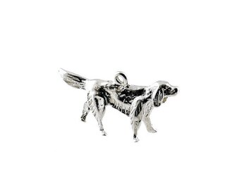 Sterling Silver Irish Setter Dog Charm For Bracelets