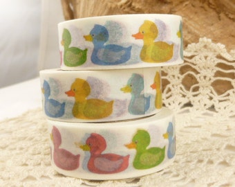 Multi Color Rubber Duckie Washi Tape - II704