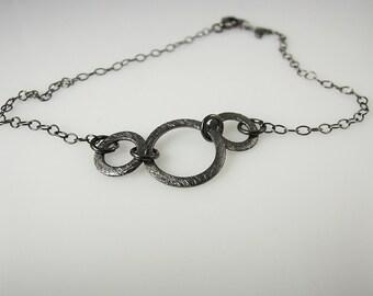 Black Oxidized-Sterling Silver-Bracelet-Anklet