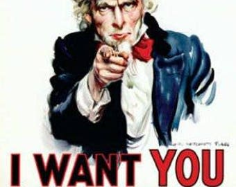 """Uncle Sam - I Want You - 24x36"""" Poster"""