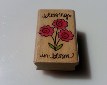 "Block Stamp - ""Blessings in bloom"""