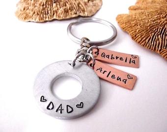Keychain for Dad, Father's Day Gift, Grandma Keychain, Dad Keychain, Grandma Keychain, Grandpa Keychain, Mom Keychain, Kids Keychain