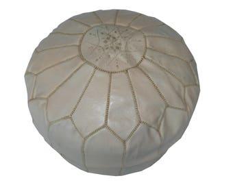 Oriental seat cushion Pouf floor Cushion stool leather Pillow Ø 45 cm