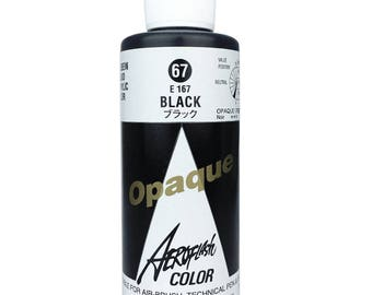 100 ML Opaque Black (E-167) Holbein Japan Aeroflash Airbrush Color - Water based - Perfect for Canvas Ceramic Textiles Makeup & Nails