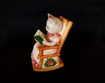 Vintage Piggy Bank, Cat Figurine, Cat Decor, Decorative Cat, Money Bank, Kitchen Decor, Shelf Decor, Home Decor